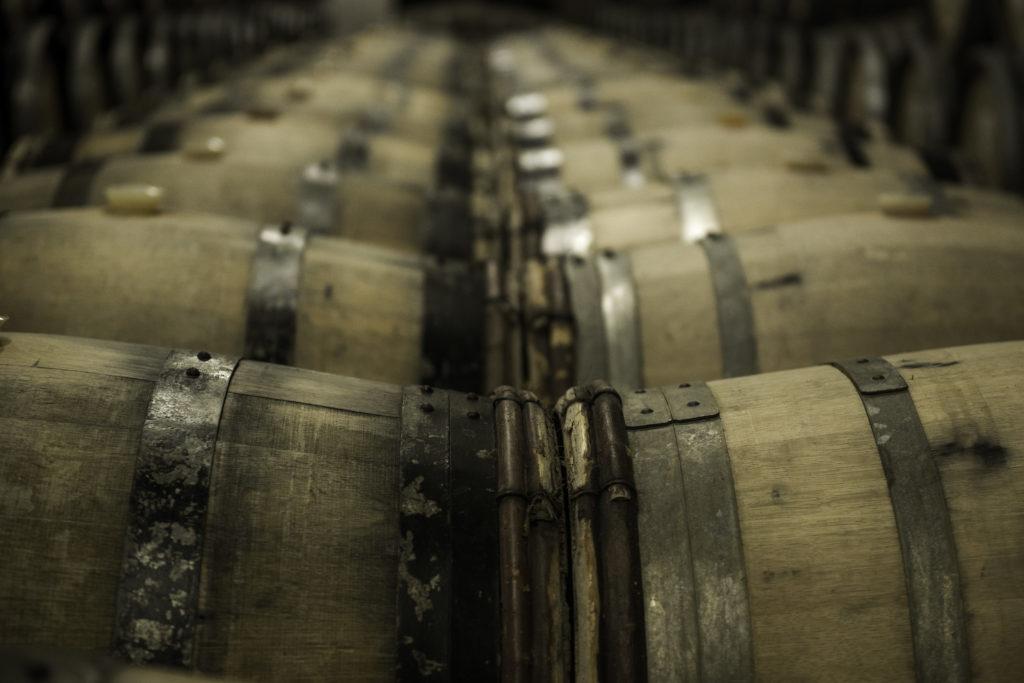 Oude houten vaten van Bollinger