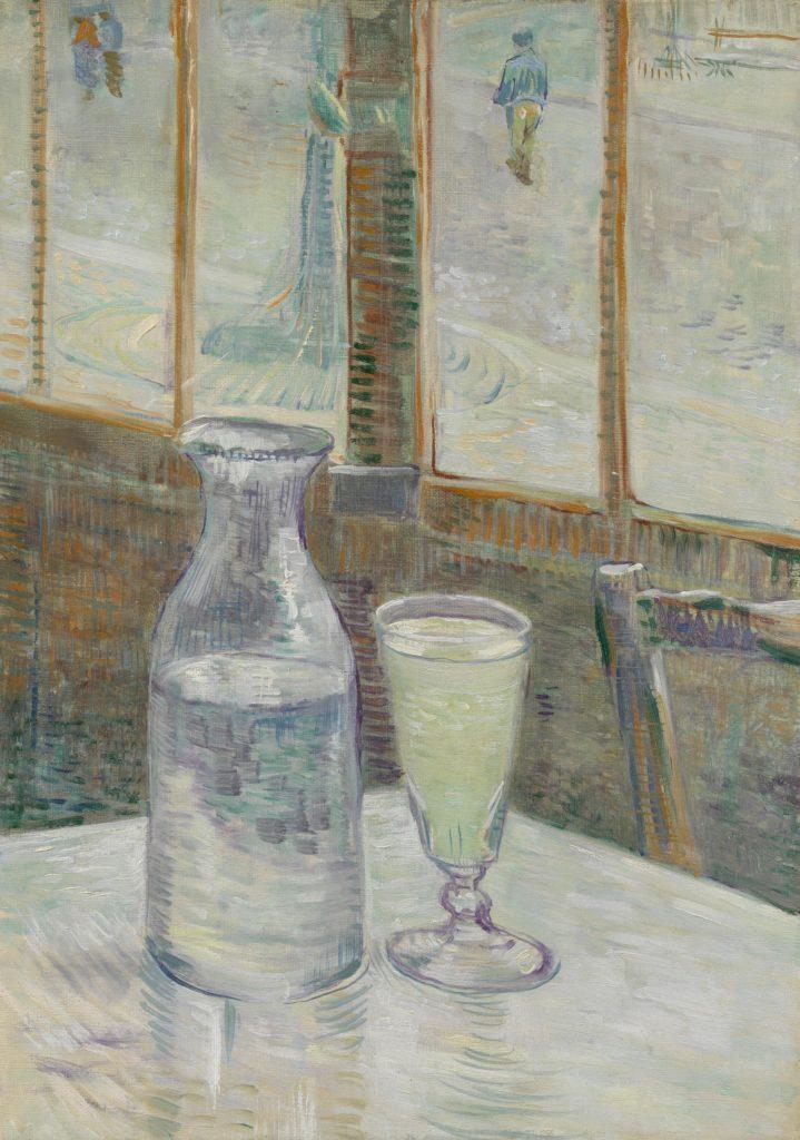 Cafétafel met absint, Vincent van Gogh