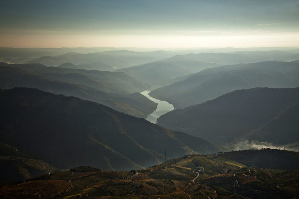 prachtige Douro-vallei van bovenaf gezien