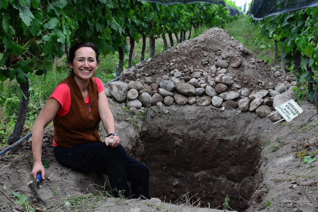 Laura Catena in de Adrianna-wijngaard