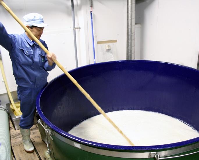 Brewing sake