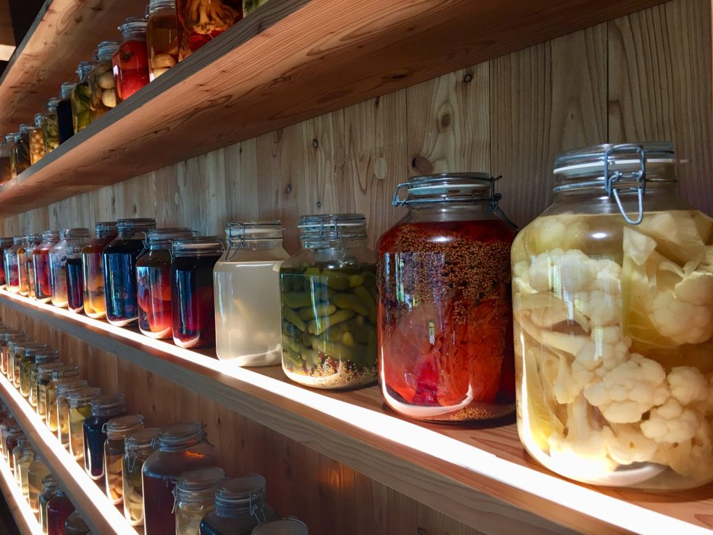 canned fermented vegetables at CIRCL in Amsterdam