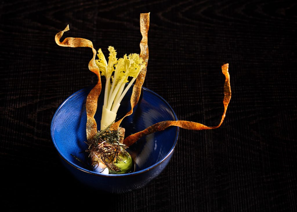 vegan Omakase sea kale