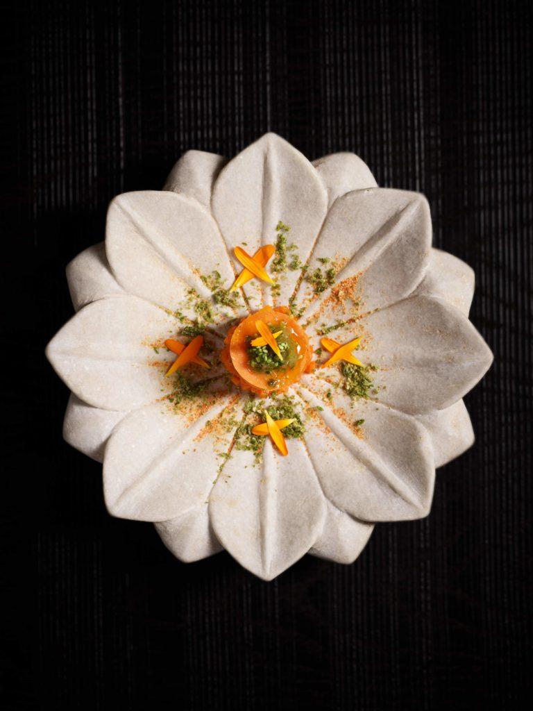 wortel tartaar met wasabi